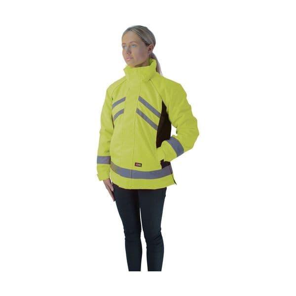 Hyviz waterproof riding jacket - yellow/black